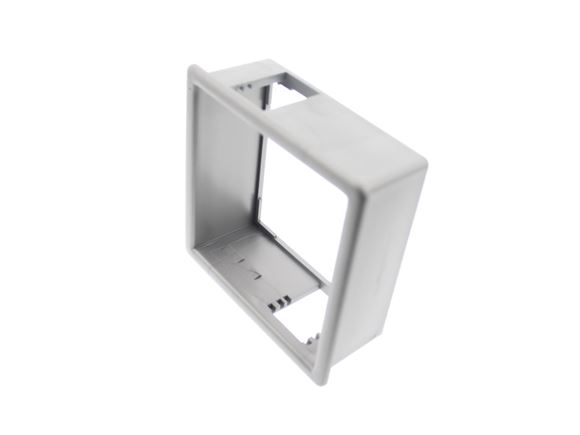 Silver Single Socket Back Box Face Plate product image