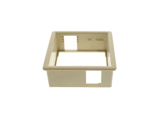 Beige Single Socket Back Box Face Plate product image