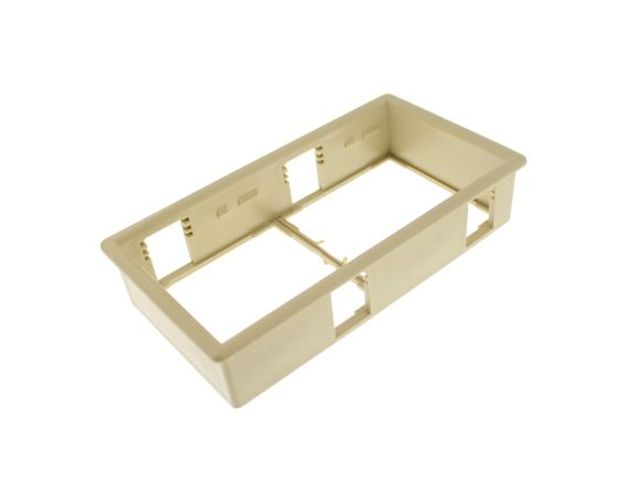 Beige Double Socket Back Box Face Plate product image