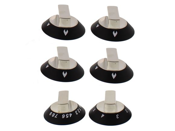 Oven & Grill Knob Set x6  product image