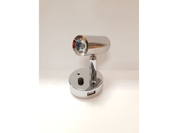 Nano LED USB Spot Light Chrome Natural White product image