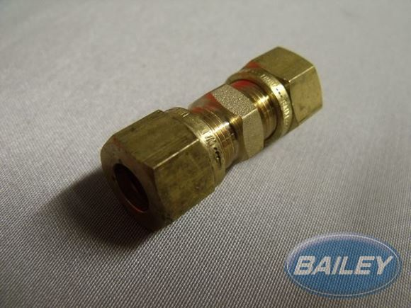 MC208 M8 =/ ENDED COUPLING BRS/ COPPER RING product image