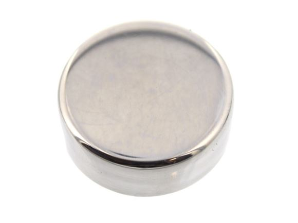 Polished St Steel Round Cover Mirror Edge Clip x1 product image