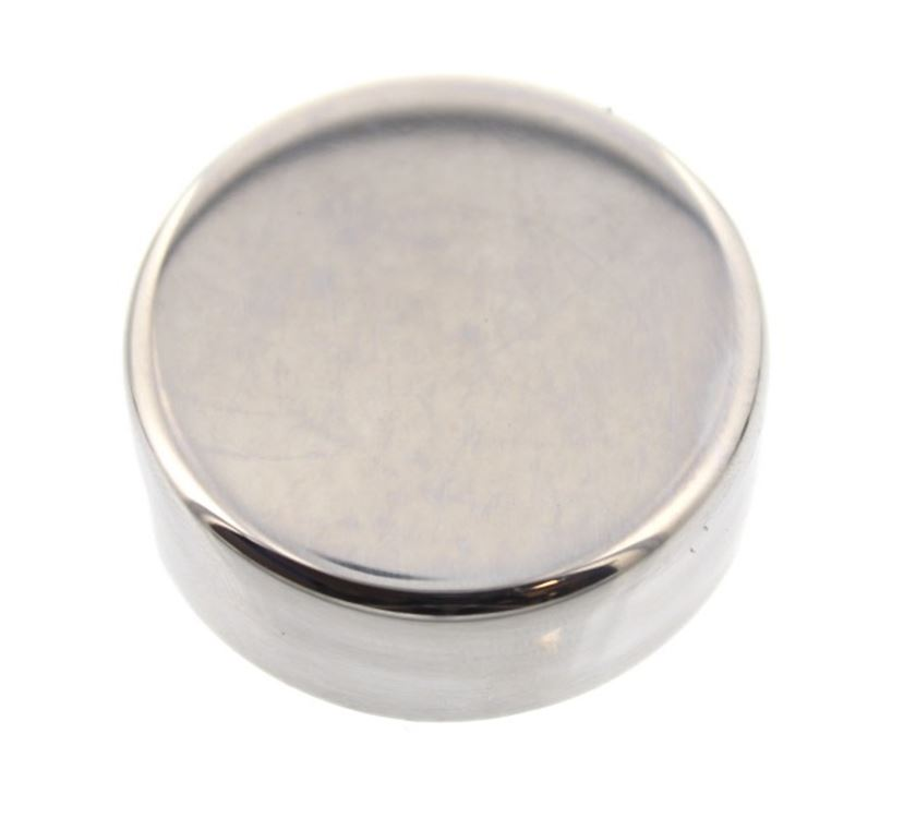 Polished St Steel Round Cover Mirror Edge Clip X1