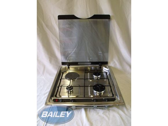 Alu-Tech Hob (3 Gas Burner & 1 Electric Hot Plate) product image
