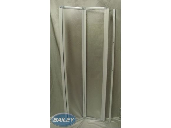 L/Weight Folding Shower Door 1700x680mm SILVER product image
