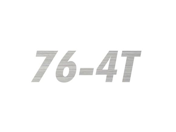 AL1 76-4T Model Number Decal product image