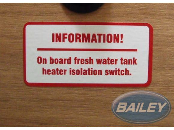 Fresh Water Tank Switch Label product image