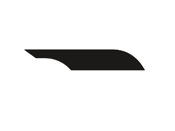 Approach Autograph II O/S Front Upper Black Decal  product image