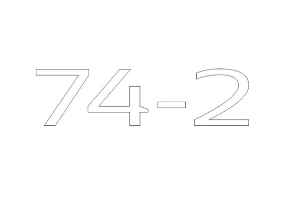AE2 74-2 Model Number Decal product image