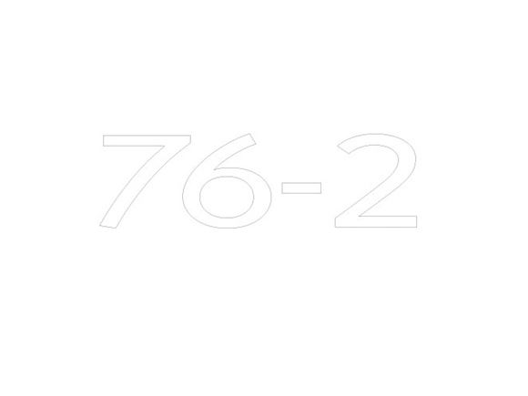 AE2 76-2 Model Number Decal product image