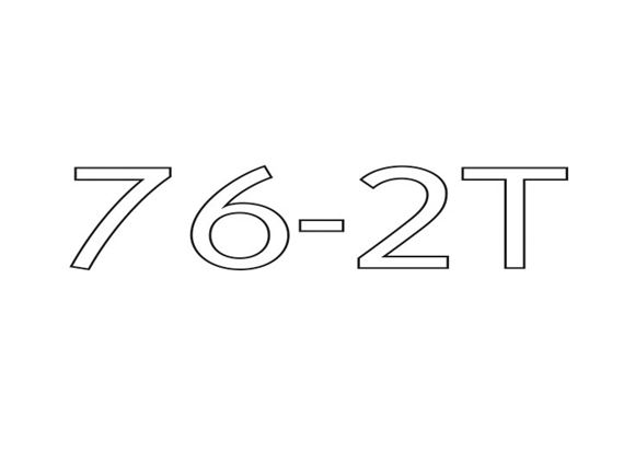 AE2 76-2T Model Number Decal product image