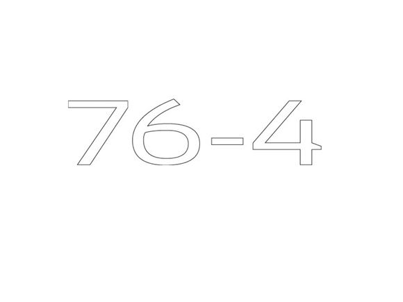 AE2 76-4 Model Number Decal product image
