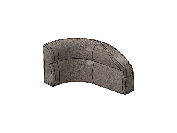 AG1 N/S Bulkhead Corner Backrest Farringdon A product image