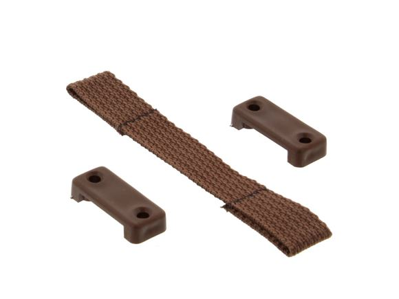 Brown Door Retaining Strap & 2 Brackets 125mm product image