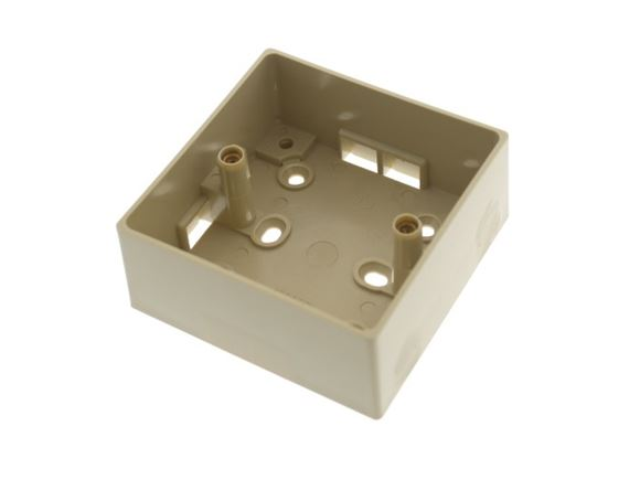 37mm Beige Single Socket Back Box  product image