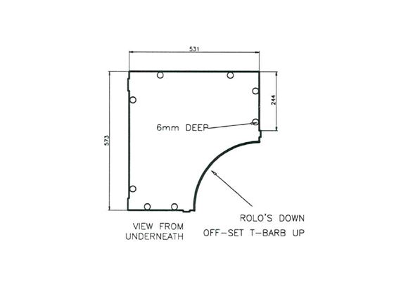 Uni III Val Fixed Bed Rear Locker Base 573x531mm product image