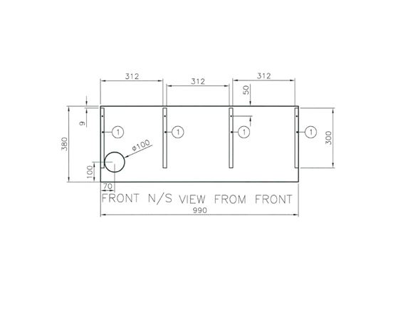 Approach Autograph 540 N/S Front Baffle Board product image