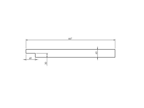 Pegasus IV (Various) N/S Front Bunk Ply Rail product image