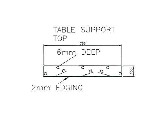 Pursuit 530/4 O/S Table Support Top product image