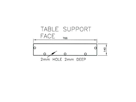 Pursuit 530/4 O/S Table Support Face product image