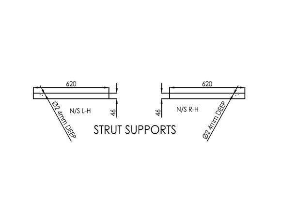 Advance 635 N/S Bunk Strut Supports (Pair) product image