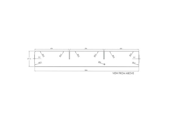 Approach Advance 635 O/S Front Top Locker Shelf product image