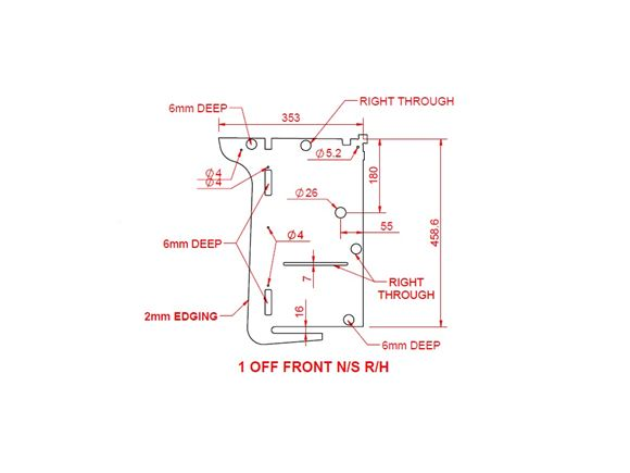 Peg IV (Various) Front N/S R/H Locker End Panel product image