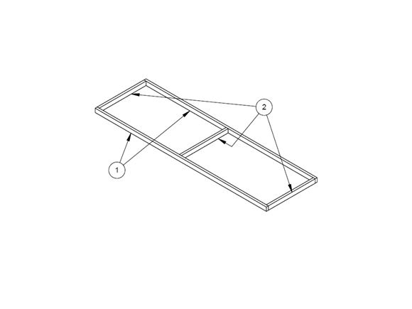 Pursuit II 550-4 N/S Rear Bed Slat Frame product image