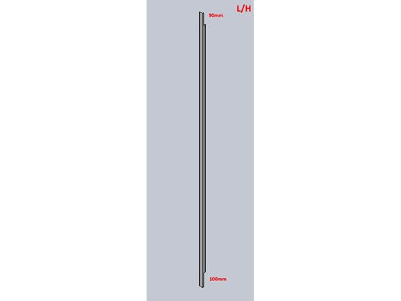 UN3 L Shaped Shower Extrusion L/H 1960 mm White product image