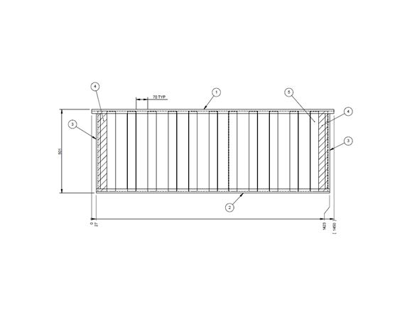 UN4 N/S or O/S Front Bunk Slats product image