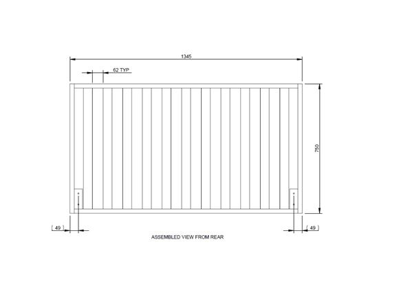 Autograph II 79-4T O/S Timber Bed Frame Assembly product image