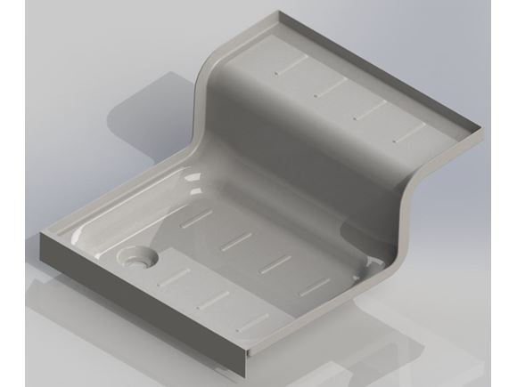 UN4 Mid Washroom Over Wheelbox Shower Tray product image