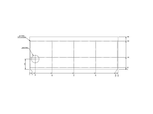 AH2 79-6 Rear Lounge N/S Baffle Board Facia product image