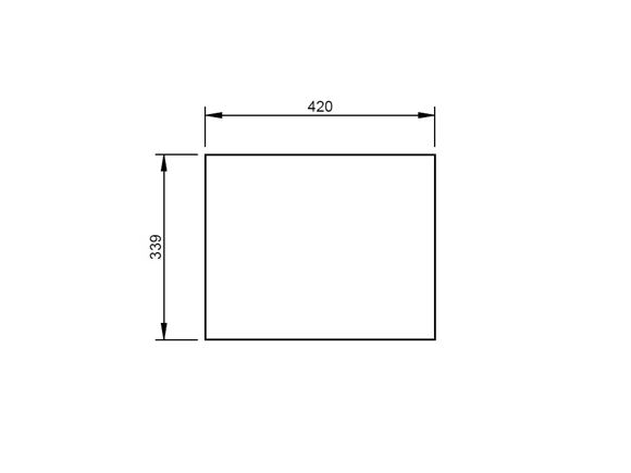 UN4 Island Bed R/H Robe Drawer Base Panel product image