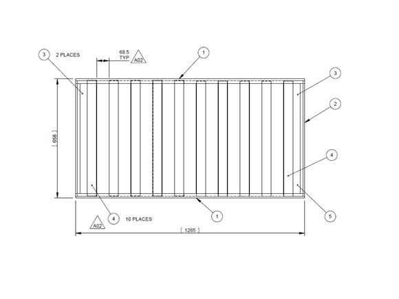 UN4 Island Lift Up Split Bed Frame product image