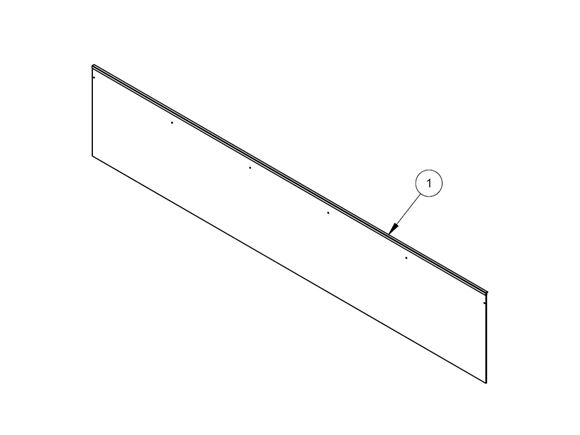 UN4 O/S Front Bunk Baffle Board product image