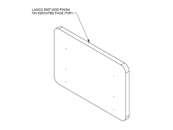 AH2 66-2 Kitchen Worktop Extension Flap product image