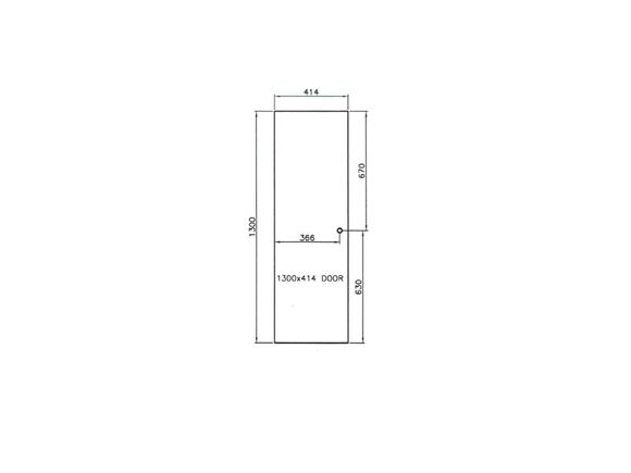 Mendip Ash 1300x414x16mm Robe Door product image