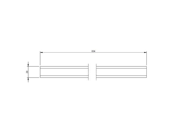 AE2 70-6 Rear Pull Out Bed Slat 834x29x15mm product image