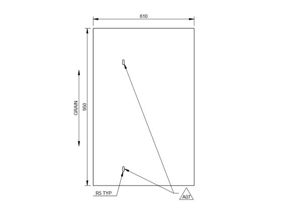 AE2 74-2 & 74-4 R/H Kitchen End Panel product image