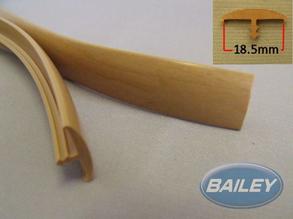 "18.5mm ""T"" Barb - Foiled Pear per metre product image"