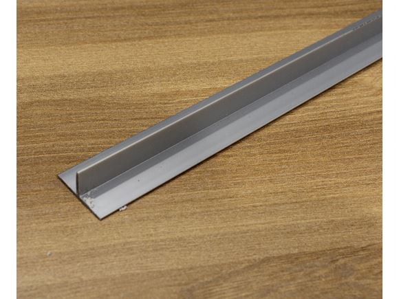 Silver Motorhome Bulkhead ' T ' Extrusion 1400mm   product image