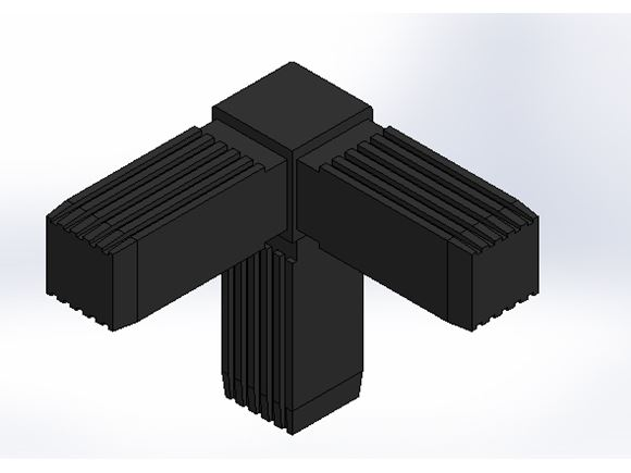 3 Way Corner Tube Connector (TYPE 2, 25 x 1.5) product image