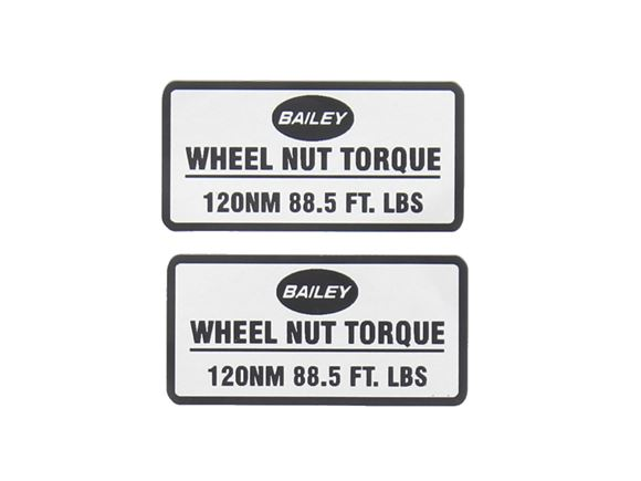 Silver Wheel Nut Torque Label (120NM) Pair product image