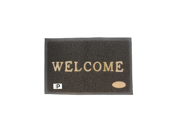 Bailey Grey Rubber Welcome Mat product image