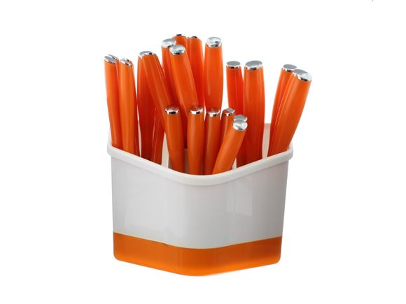 PRIMA 24 Piece Cutlery Set with Holder - Orange product image