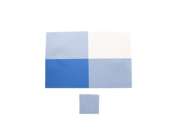 PRIMA 12pc Placemat & Coaster Set - Blue product image