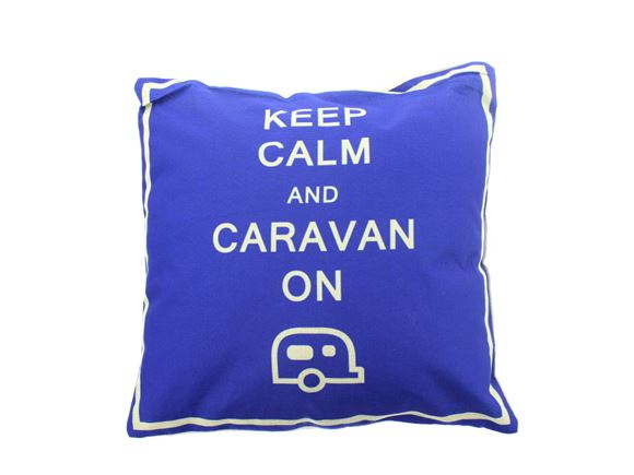 Keep Calm & Caravan On Scatter Cushion 40x40cm product image