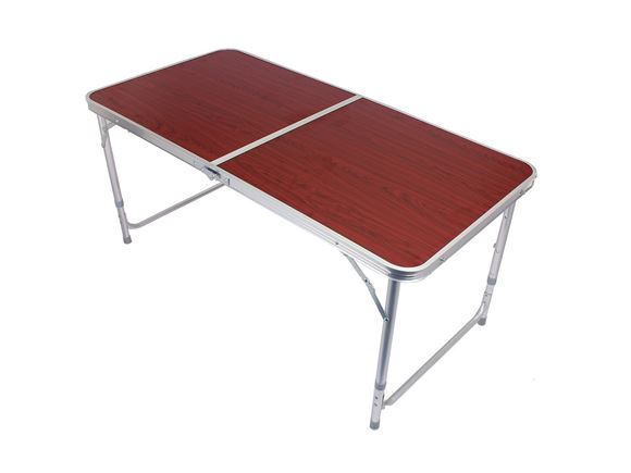 PRIMA 4ft Portable Folding Camping Table, Mahogany product image